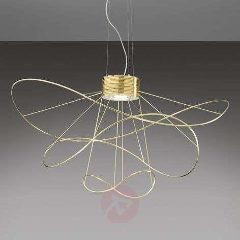 Hoops 3 LED-riippuvalaisin kultaviimeistelyllä