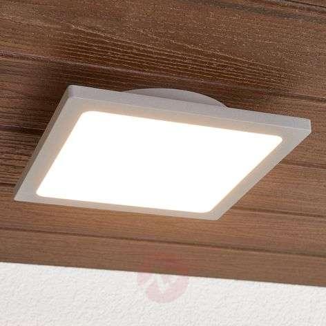Hopeanharmaa LED-kattovalaisin ulkotiloihin