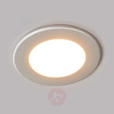 Hopeanvärinen Joki-LED-uppovalaisin, pyöreä