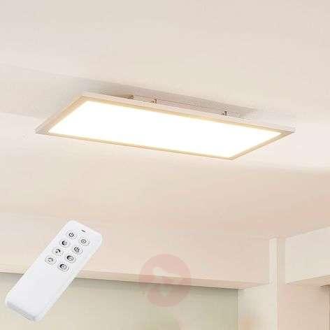 Hopeinen LED-paneeli Lysander, säädettävä väri