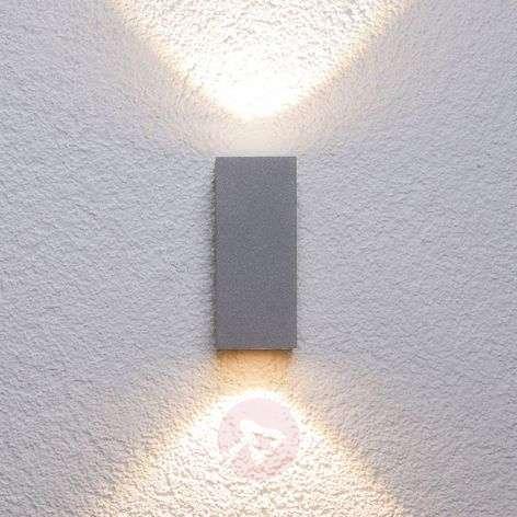 Hopeinen Tavi-ulkoseinävalaisin Bridgelux LEDeillä