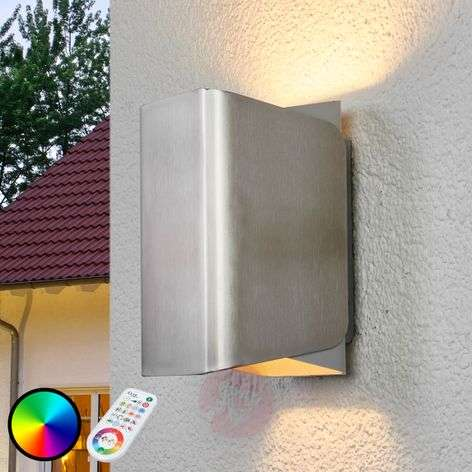 iDual LED-ulkoseinävalaisin Temis, nikkeli