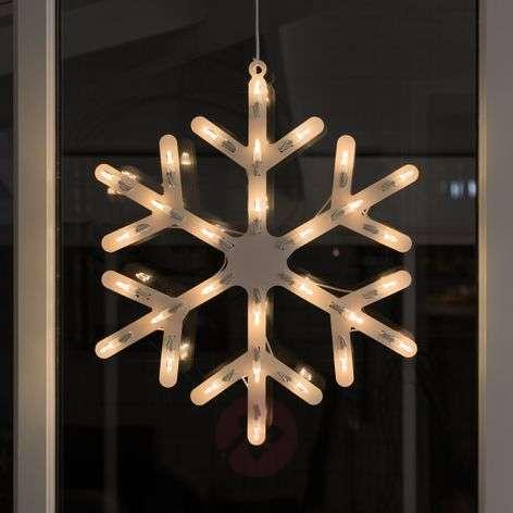 Ikkunakoriste Lumihiutale LEDeillä