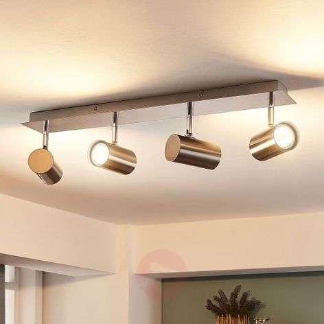 Iluk - 4-lamppuinen LED-kattolamppu, nikkeli