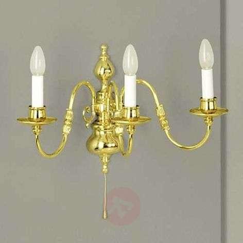 Imke-valaisin, 3-lampp., kiillotettu messinki