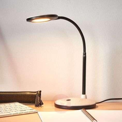 Ivan-työpöytävalaisin LED vaaleanharmaa/musta