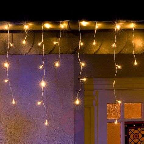 Jääsade-LED-valoverho 200lamppua lämmin valkoinen