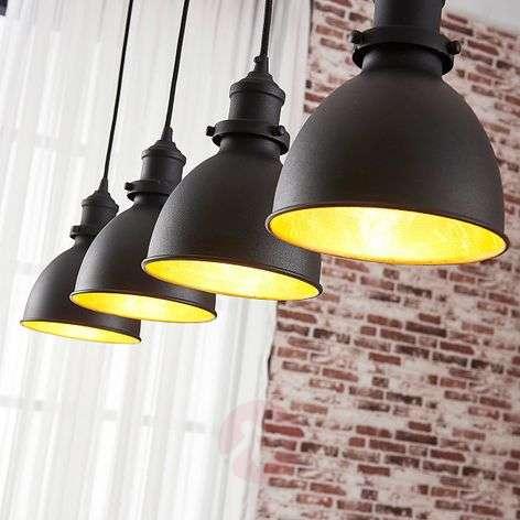 Jasminka - 4-lamppuinen riippuvalo, musta-kulta