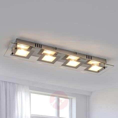 Joustava Manja LED-kattovalaisin, kromipinta-4018055-32