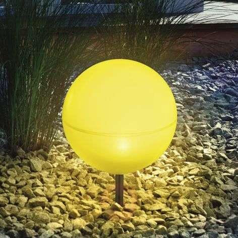 Joustava pallovalaisin aurinkokennolla, keltainen