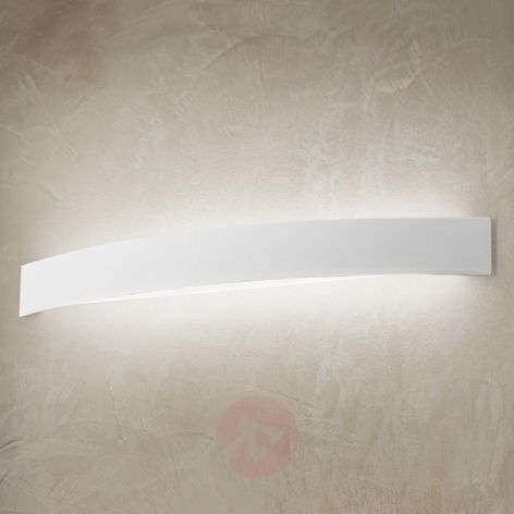 Kaareva LED-seinävalaisin Curve valkoisena