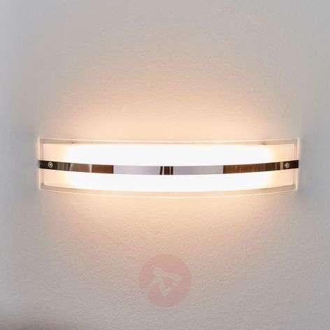Kaareva LED-seinävalaisin Lianda, lasia