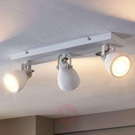 Kadiga – valkoinen LED-kattovalaisin, 3-lampp.