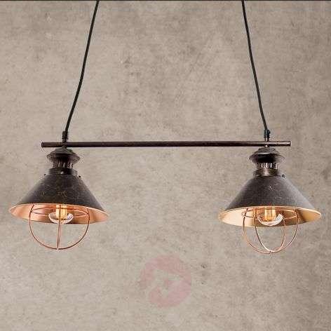 Kahden lampun Shanta-riippuvalaisin, mustakupari