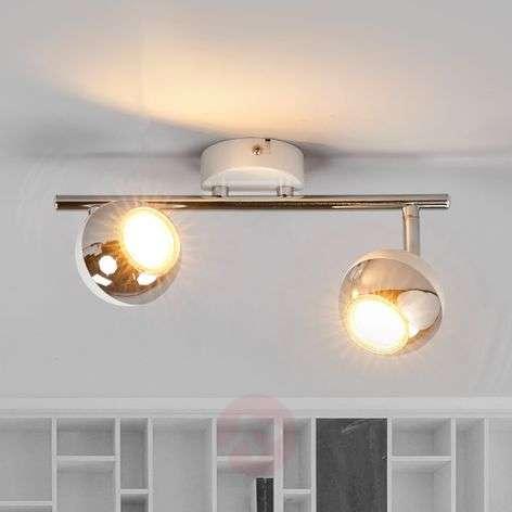 Kaksilamppuinen Arvin LED-valaisin, valkoinen