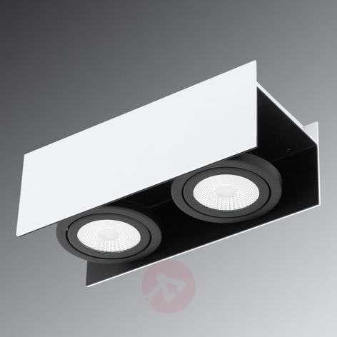 Kaksilamppuinen LED-kattokohdevalaisin Vidago