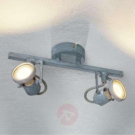 Kaksilamppuinen LED-kattovalaisin Concreto