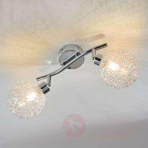 Kaksilamppuinen LED-kattovalaisin Tiam