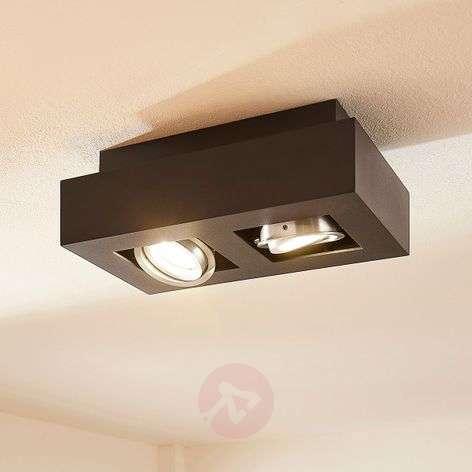 Kaksilamppuinen LED-kattovalaisin Vince, musta