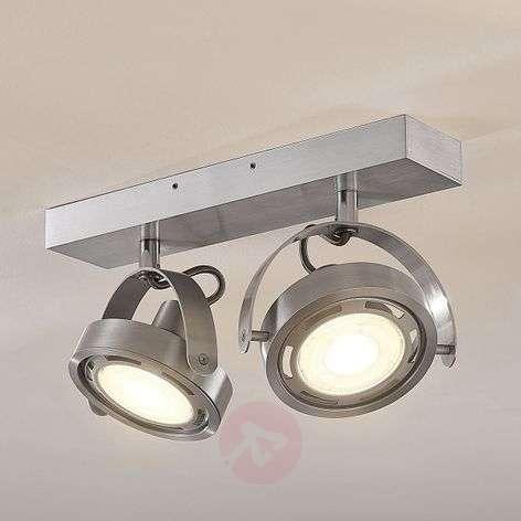 Kaksilamppuinen LED-kohdevalaisin Munin, alumiini