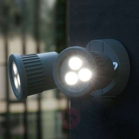 Kaksilamppuinen Tumbler-LED-ulkoseinävalaisin