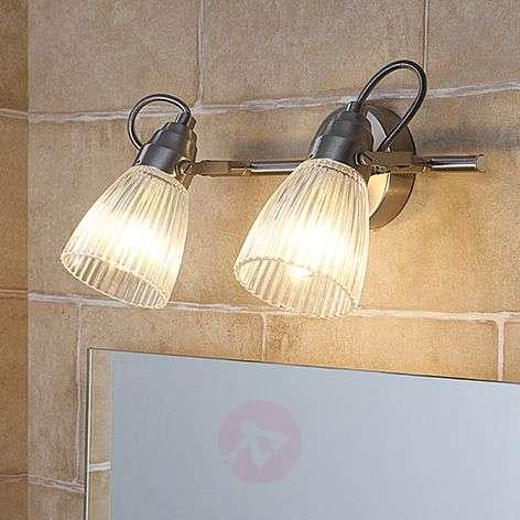 Kara - kylpyhuoneen seinävalaisin uurrelasi ja LED
