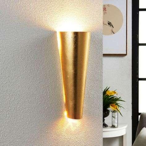 Kauniin muotoinen LED-seinävalaisin Conan, kulta