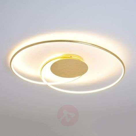 Kauniinmuotoinen LED-kattolamppu Joline, kulta
