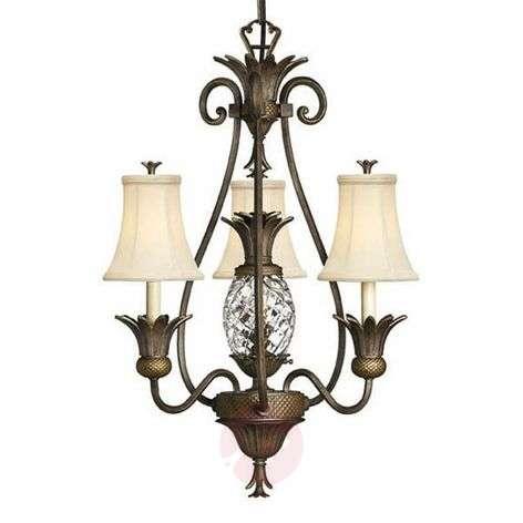 Kaunis Plantation-kattokruunu, 3 lamppua