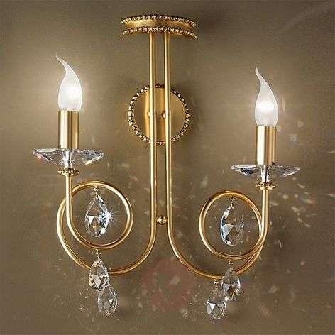Kaunis seinävalaisin VIOLETTA kulta, 2-lamppuinen