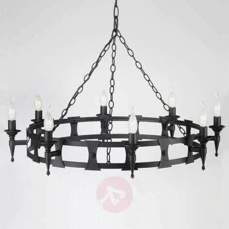 Keskiaikainen kahdeksan lampun SAXON-kattokruunu