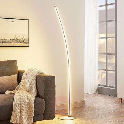 Kevyesti taivutettu LED-lattiavalaisin Senja