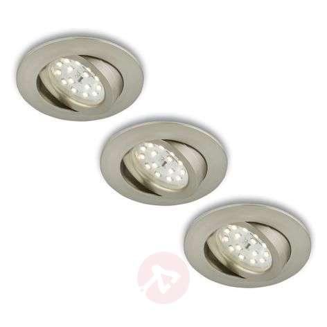 Kierrettävä LED-uppokohdevalo, 3 kpl, mattanikkeli-1510288-31