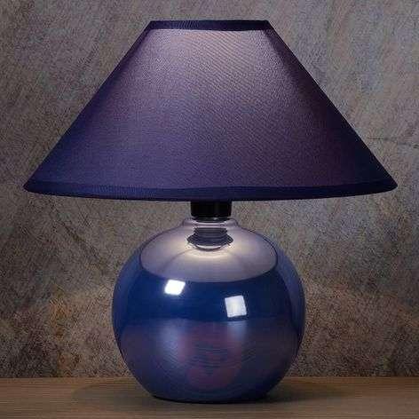 Kiiltävä keramiikkajalka sininen pöytälamppu Faro