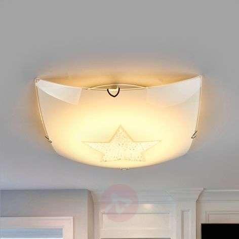 Kimaltava Stern LED-kattovalaisin kristalleilla