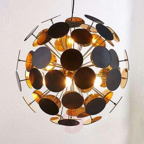 Kinan-riippuvalaisin levyillä, musta ja kulta