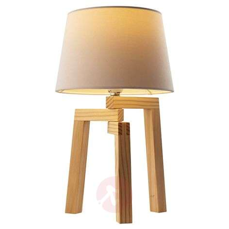 Kolmijalkainen Montana-pöytälamppu vaaleaa tammea