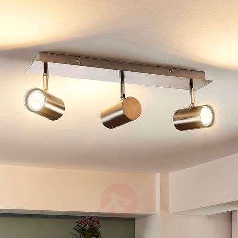 Kolmilamppuinen Iluk LED-kattolamppu