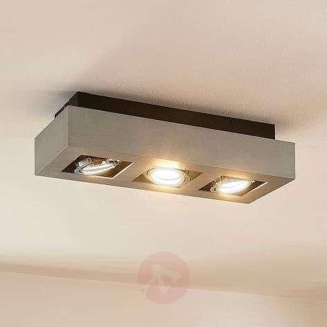 Kolmilamppuinen-LED-kattokohdevalaisin Vince