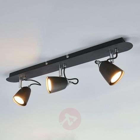 Kolmilamppuinen LED-kattolamppu Marko, musta