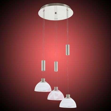 Kolmilamppuinen LED-riippuvalaisin Montefio