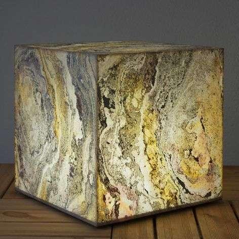 Koristeellinen luonnonliuske kuutiovalaisin-3050143X-31