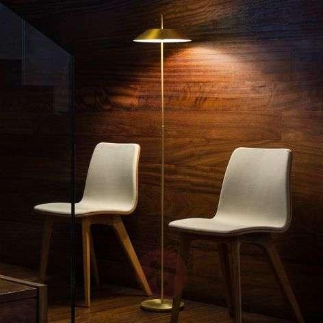 Koristeellinen Mayfair-LED-lattiavalaisin, kulta