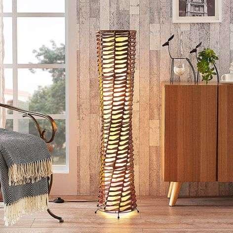 Koristeellinen olohuoneen lattiavalo Joas, ruskea