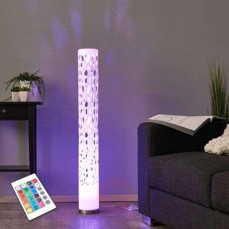 Koristeellinen RGBW-LED-lattiavalaisin ALISEA