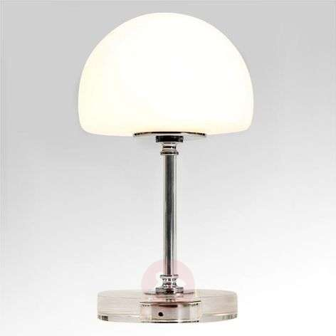 Kromattu LED-pöytävalaisin Ancilla himmentimellä