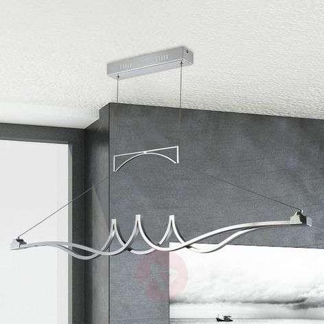 Kromikiilto LED-riippuvalaisin Wave himmennettävä