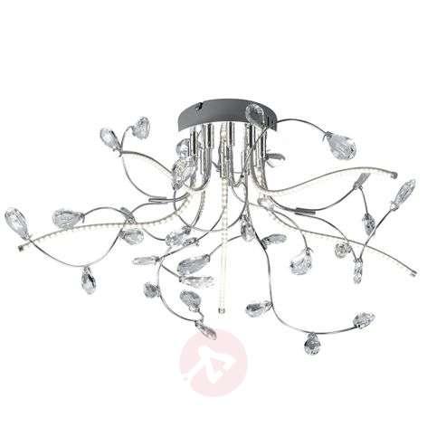 Krominkiiltävä LED-kattovalaisin Crystal