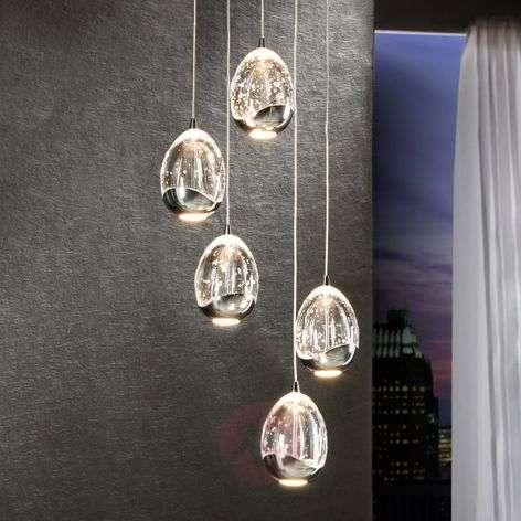 Krominvärinen 5-osainen Rocio-LED-riippuvalaisin