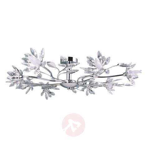 Kukkainen Okra-LED-kattovalaisin, kahdeksan vartta